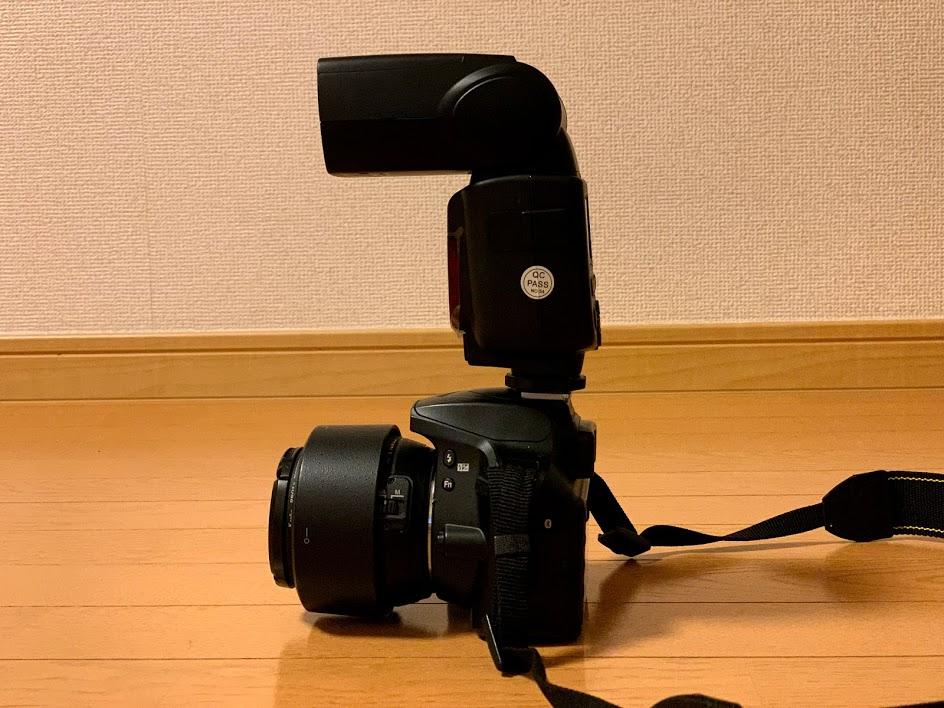D3400+TT600の側面