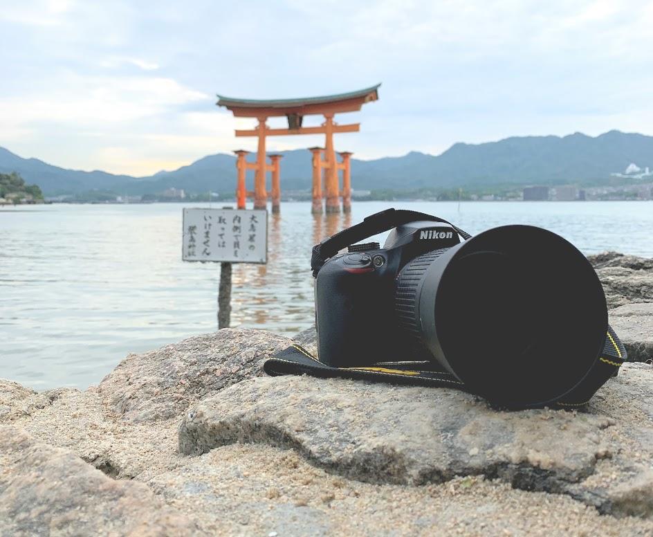 厳島神社とNikon