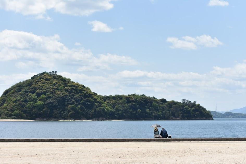 大久野島のビーチ