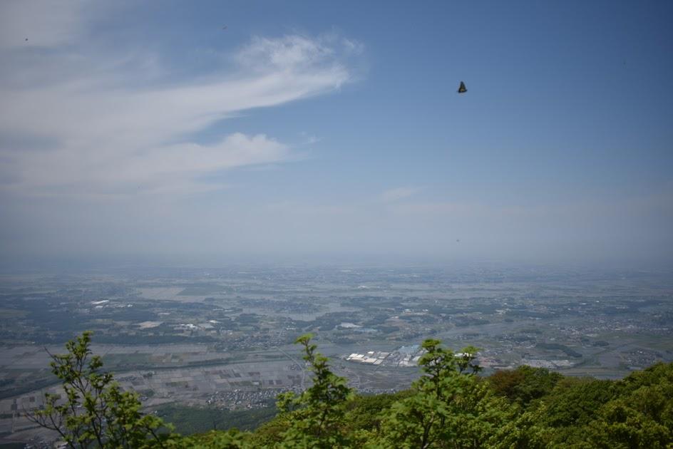 男体山山頂からの景色