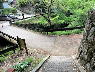 筑波山の登山道