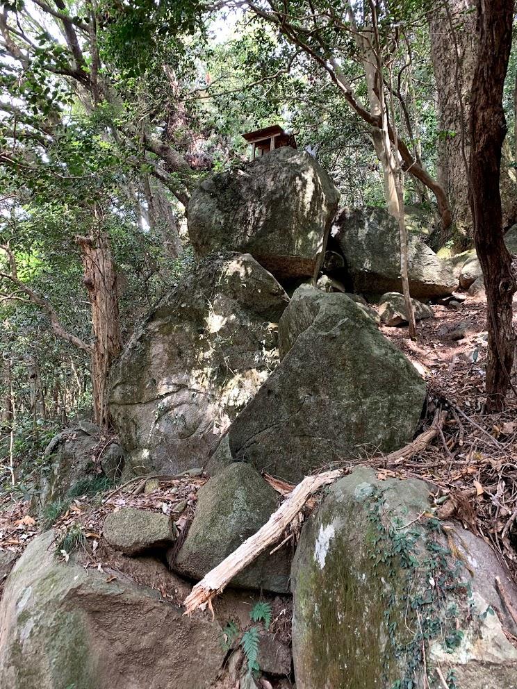 筑波山の岩