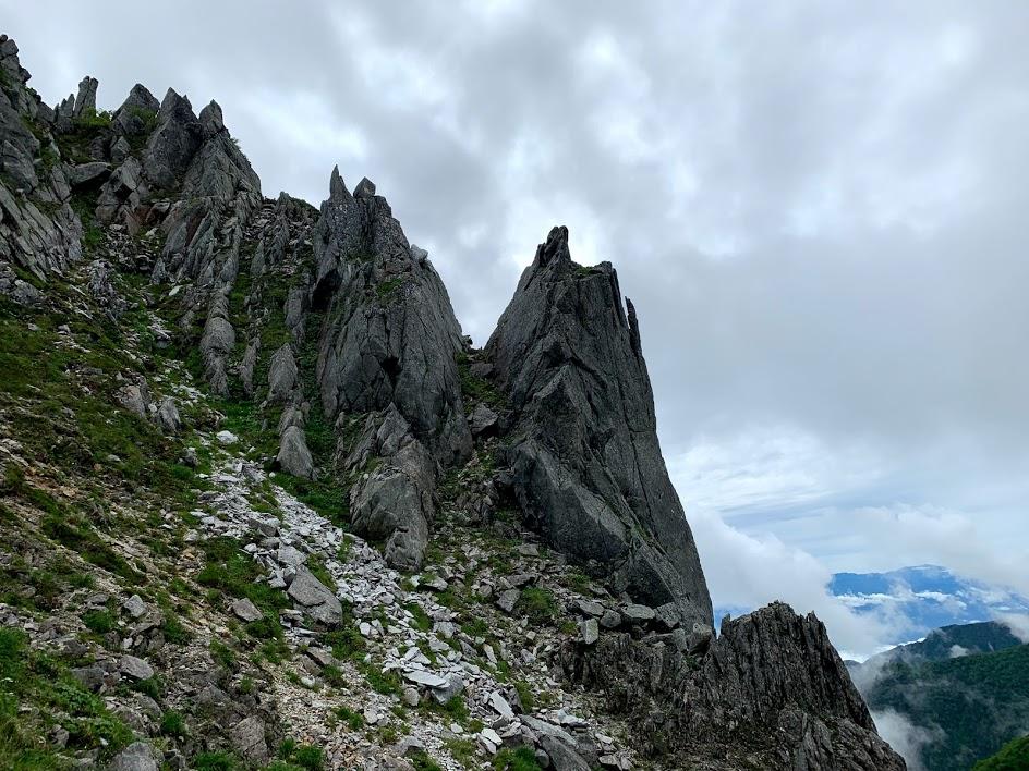八丁坂の急な登り