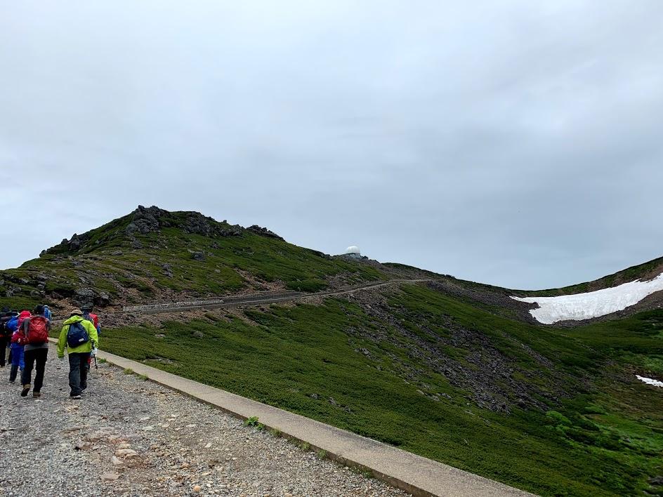 乗鞍岳から肩の小屋まで