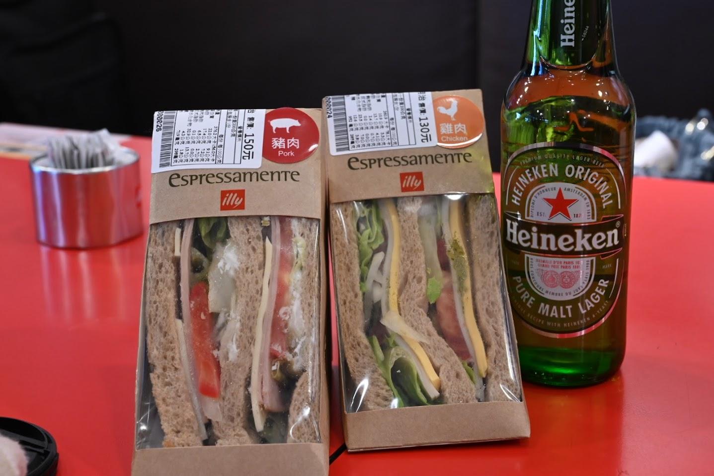サンドイッチとハイネケン
