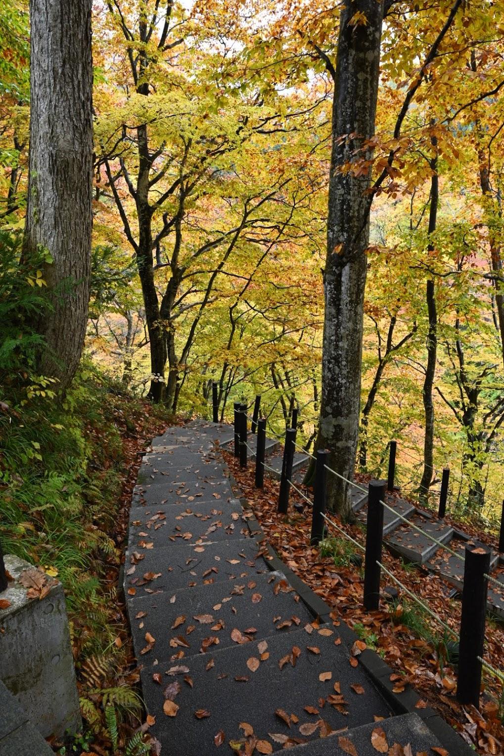 小安峡の遊歩道
