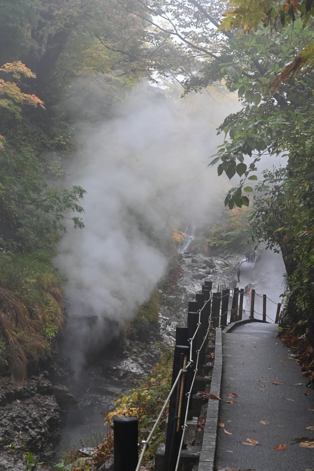 小安峡の大噴湯